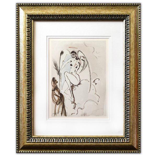"Salvador Dali- Original Color Woodcut on B.F.K. Rives Paper ""Paradise 31"""