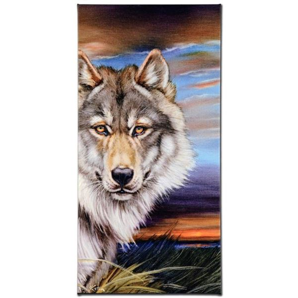 """""""Wolf"""" Limited Edition Giclee on Canvas by Martin Katon, Numbered and Hand Signed. This piece comes"""
