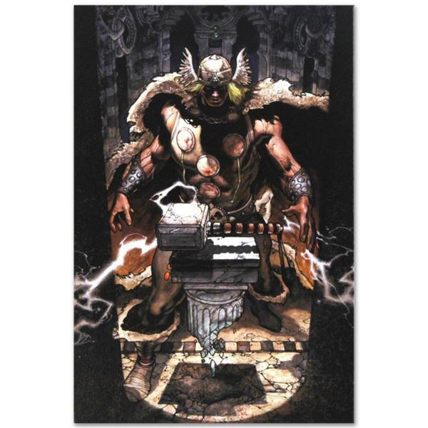"""Marvel Comics """"Thor: For Asgard #6"""" Numbered Limited Edition Giclee on Canvas by Simone Bianchi with"""