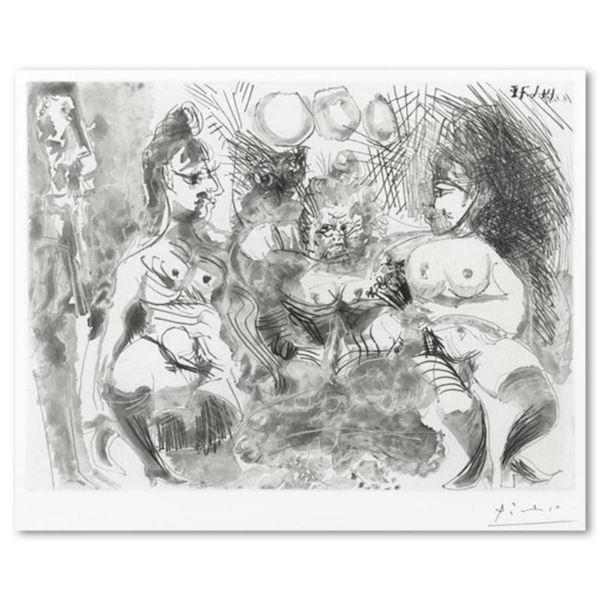 """Pablo Picasso (1881-1973), """"La Fete de la Patronne"""" Hand Signed Limited Edition Original Etching fro"""