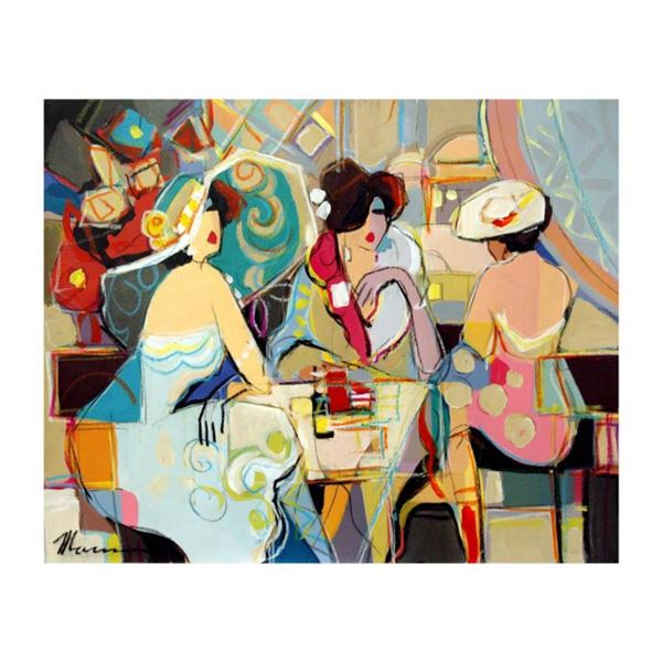 """Isaac Maimon - """"Remarkable Moments"""" Original Acrylic Painting on Canvas, Hand Signed with Certificat"""