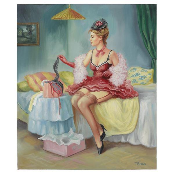 "Taras Sidan- Original Giclee on Canvas ""Ana"""