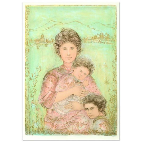"""Edna Hibel (1917-2014), """"Tatyana's Family"""" Limited Edition Lithograph, Numbered and Hand Signed with"""