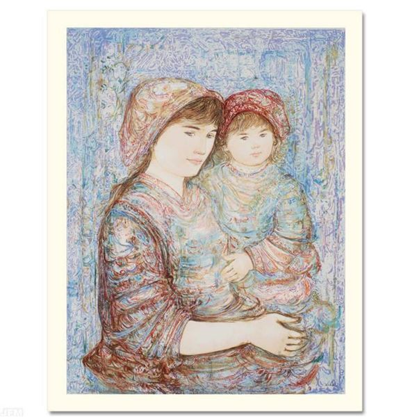 """""""Naomi"""" Limited Edition Serigraph (29"""" x 41"""") by Edna Hibel, Numbered and Hand Signed with Certifica"""