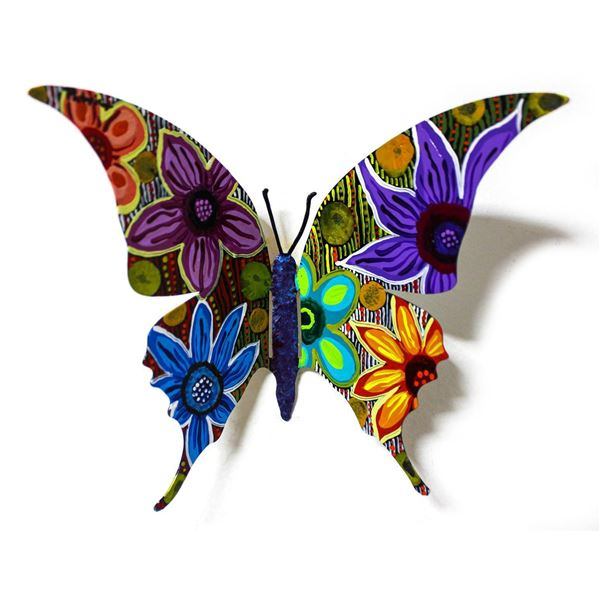 """Patricia Govezensky- Original Painting on Cutout Steel """"Butterfly CLXIII"""""""