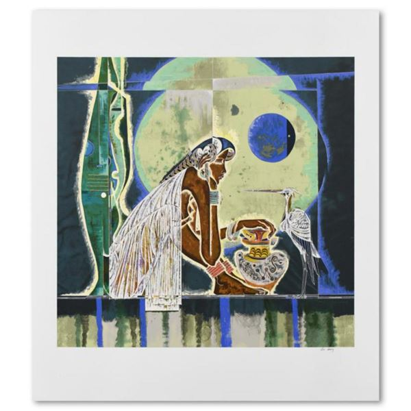 """Lu Hong, """"Muse"""" Limited Edition Serigraph, Numbered and Hand Signed with Letter of Authenticity"""