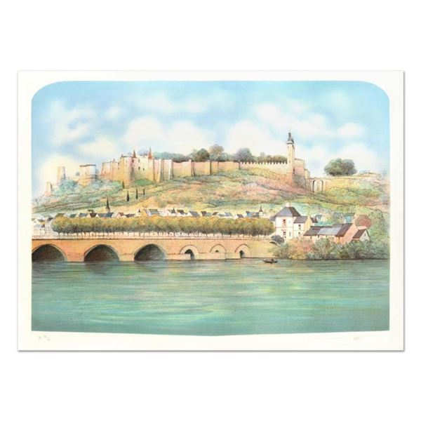 """Rolf Rafflewski, """"Seine """" Limited Edition Lithograph, Numbered and Hand Signed."""