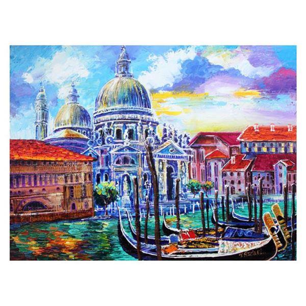 "Yana Rafael, ""Venezia Historic Site"" Hand Signed Original Painting on Canvas with COA."