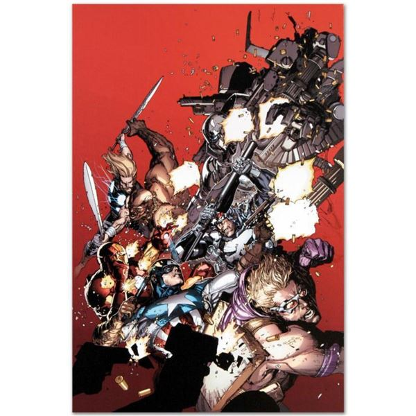 """Marvel Comics """"Ultimate Avengers vs. New Ultimates #1"""" Numbered Limited Edition Giclee on Canvas by"""