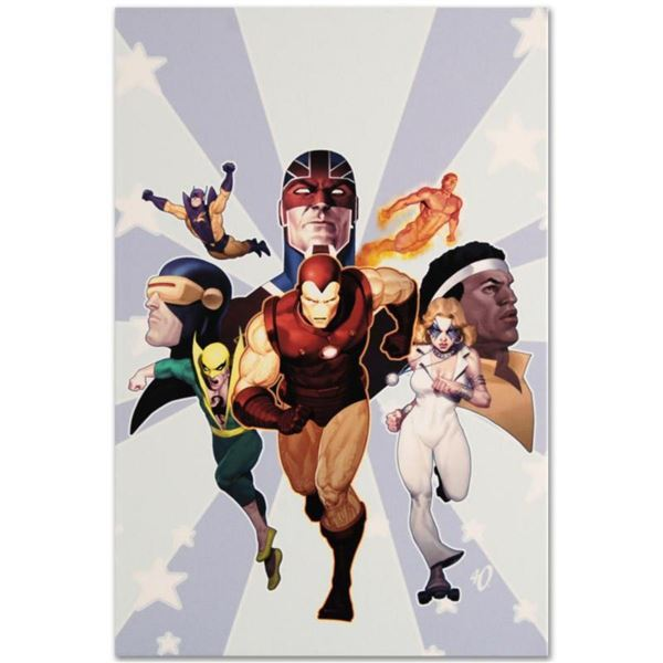 """Marvel Comics """"Iron Age: Omega #1"""" Numbered Limited Edition Giclee on Canvas by Ariel Olivetti with"""