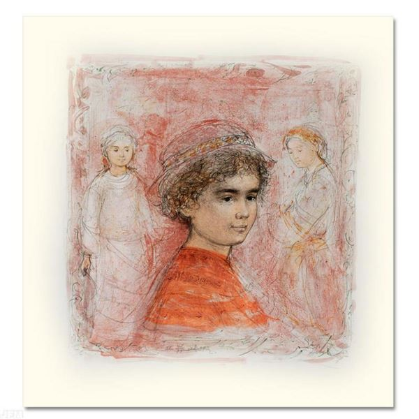 """""""Matthew"""" Limited Edition Lithograph by Edna Hibel (1917-2014), Numbered and Hand Signed with Certif"""
