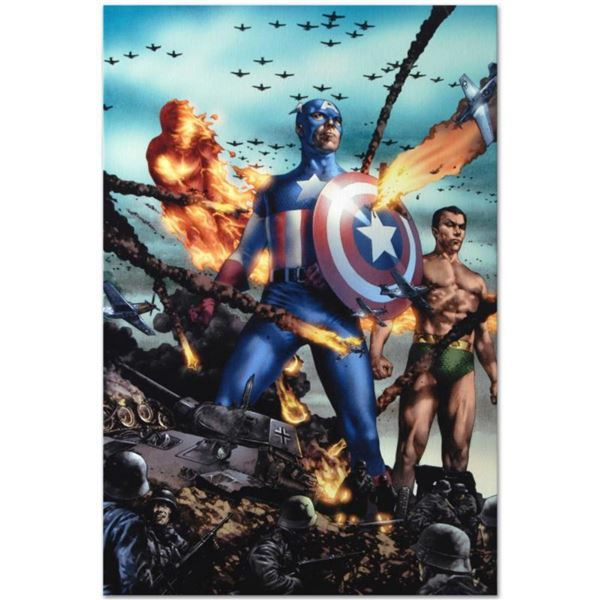 """Marvel Comics """"Giant-Size Invaders #2"""" Numbered Limited Edition Giclee on Canvas by Jay Anacleto wit"""