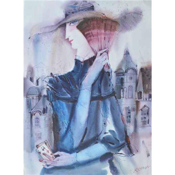 "Klevan- Watercolor on Paper ""Untitled"""