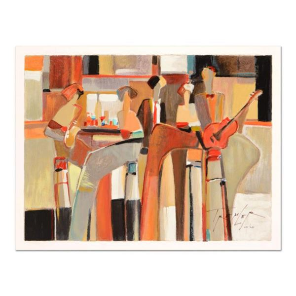 """Yuri Tremler, """"Music at the Bar """" Limited Edition Serigraph by Yuri Tremler, Hand Signed with Certif"""