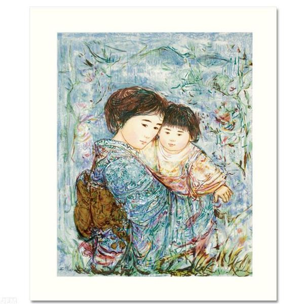 """""""Kyoko and Sanayuki"""" Limited Edition Serigraph by Edna Hibel (1917-2014), Numbered and Hand Signed w"""
