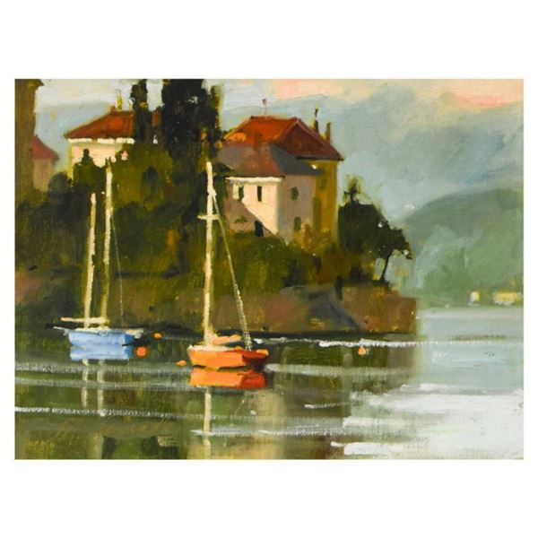 """Marilyn Simandle, """"Varenna"""" Limited Edition on Canvas, Numbered and Hand Signed with Letter of Authe"""