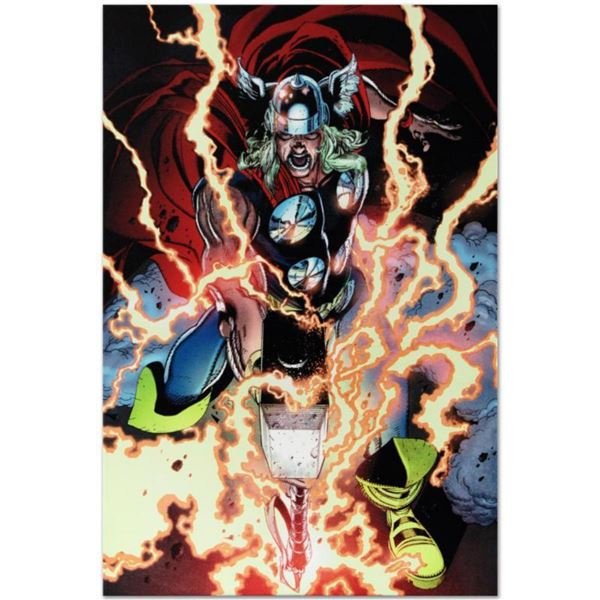 """Marvel Comics """"Thor First Thunder #1"""" Numbered Limited Edition Giclee on Canvas by Tan Eng Huat with"""