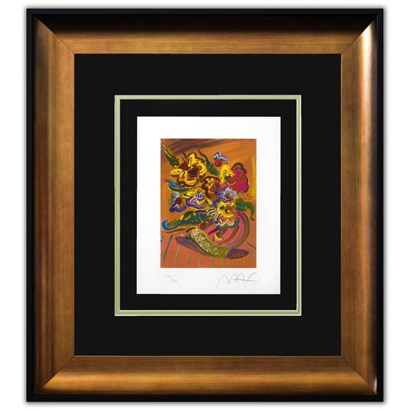 """Peter Max- Original Lithograph """"Vase of Flowers"""""""