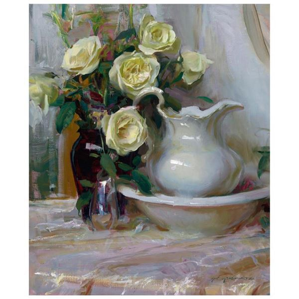 """Dan Gerhartz, """"French Lace"""" Limited Edition on Canvas, Numbered 79/150 and Hand Signed with Letter o"""