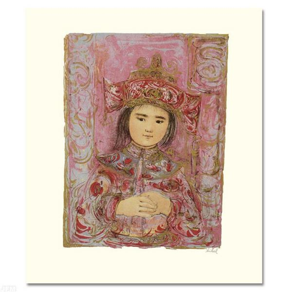 """""""Child of the East"""" Limited Edition Lithograph by Edna Hibel (1917-2014), Numbered and Hand Signed w"""