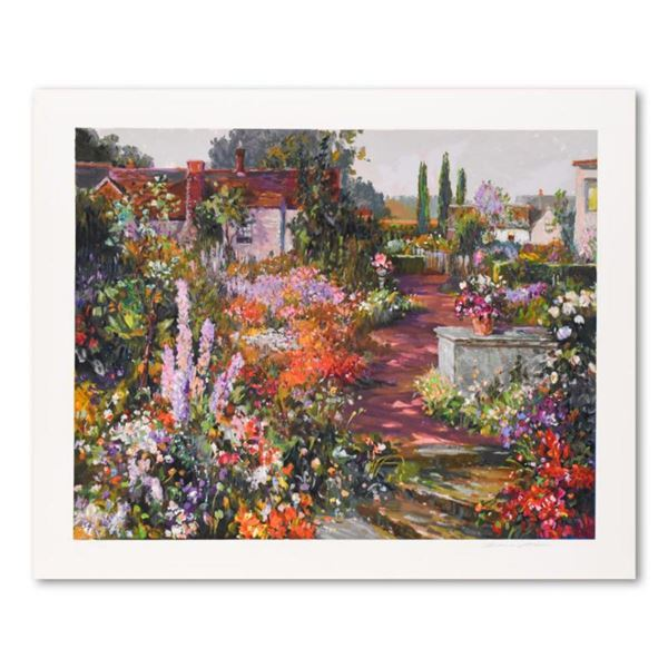 """Henri Plisson, """"British Garden"""" Limited Edition Serigraph, Numbered and Hand Signed with Letter of A"""