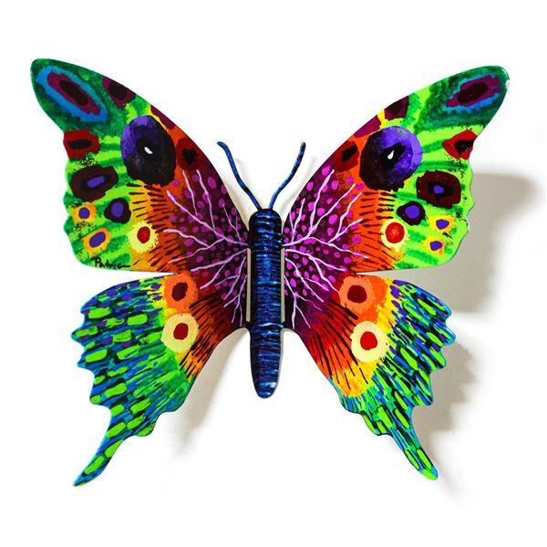 "Patricia Govezensky- Original Painting on Cutout Steel ""Butterfly CXXXIII"""