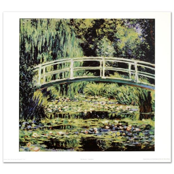 """""""White Waterlilies"""" Fine Art Print by Monet (1840-1926), Created with EncreLuxe Printing Process Whi"""