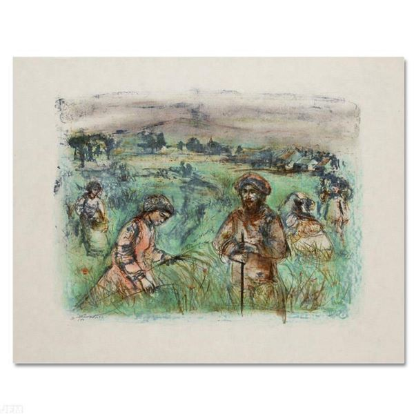 """""""Fields Near Chartres"""" Limited Edition Lithograph by Edna Hibel (1917-2014), Numbered and Hand Signe"""