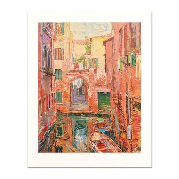 """Marco Sassone, """"Rio Secundo"""" Limited Edition Serigraph, Numbered and Hand Signed with Letter of Auth"""