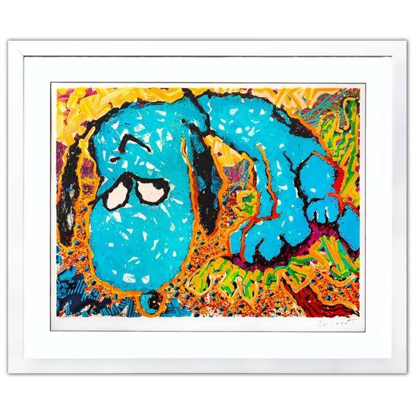 "Tom Everhart- Hand Pulled Original Lithograph ""Hollywood Hound Dog"""