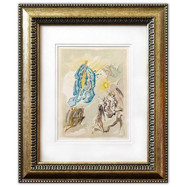 "Salvador Dali- Original Color Woodcut on B.F.K. Rives Paper ""Paradise 26"""