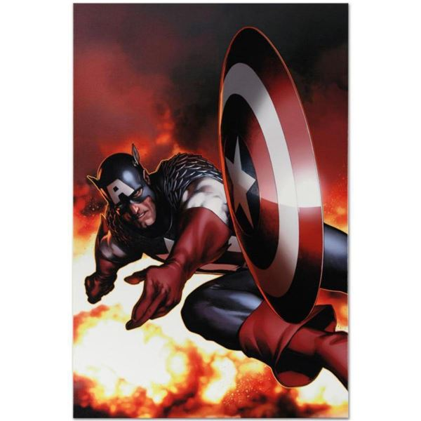 """Marvel Comics """"Captain America #2"""" Numbered Limited Edition Giclee on Canvas by Steve McNiven with C"""