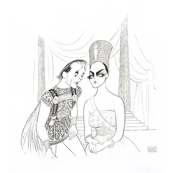"Al Hirschfeld- Original Lithograph on Paper ""Anthony & Cleopatra"""