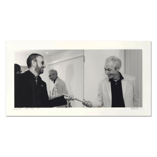 """Rob Shanahan, """"Ringo Starr & Charlie Watts"""" Hand Signed Limited Edition Giclee with Certificate of A"""
