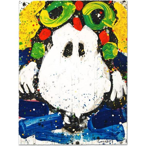 """Tom Everhart- Hand Pulled Original Lithograph """"Ace Face"""""""