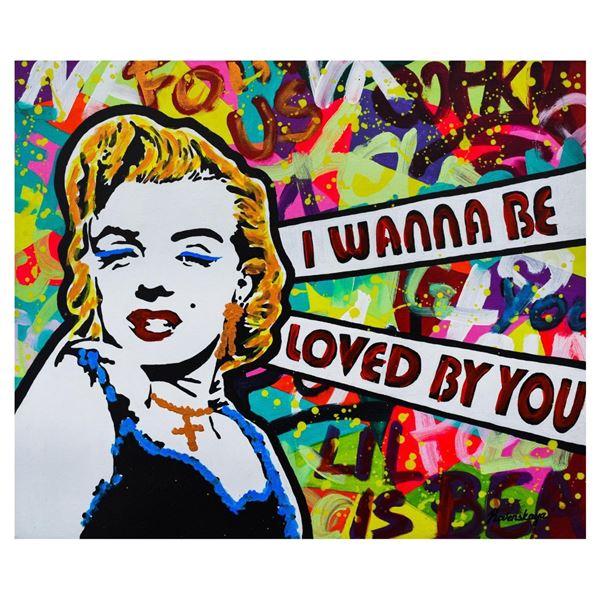 """Nastya Rovenskaya- Mixed Media """"I Wanna Be Loved By You"""""""