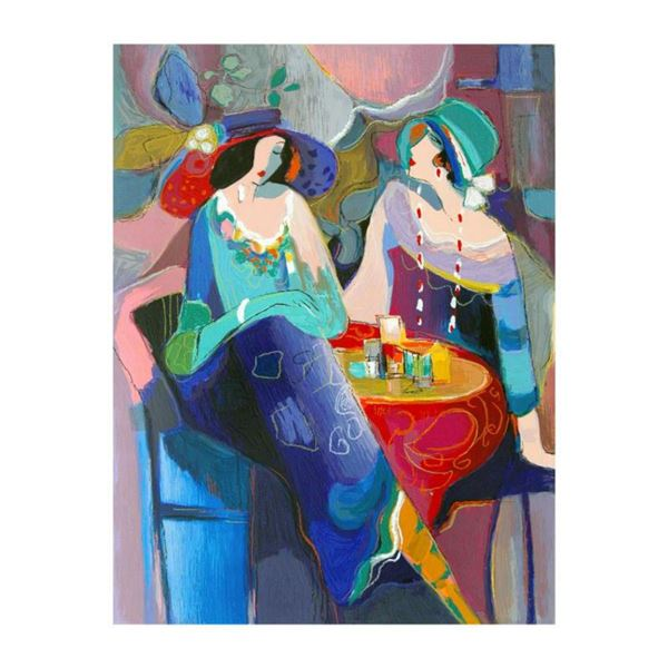 """Isaac Maimon, """"Pastel Gathering"""" Limited Edition Serigraph, Numbered and Hand Signed with Letter of"""