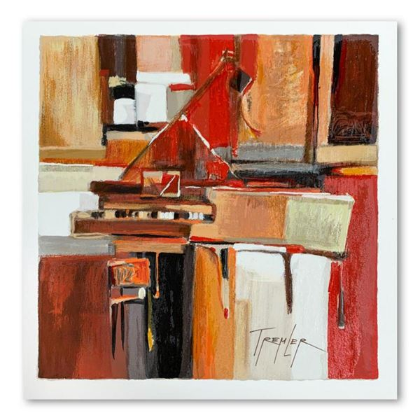 """Yuri Tremler, """"Piano"""" Limited Edition Serigraph, Hand Signed with Letter of Authenticity."""