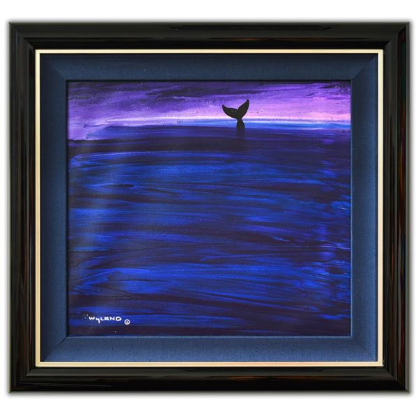 """Wyland- Original Painting on Canvas """"Whale Tail"""""""