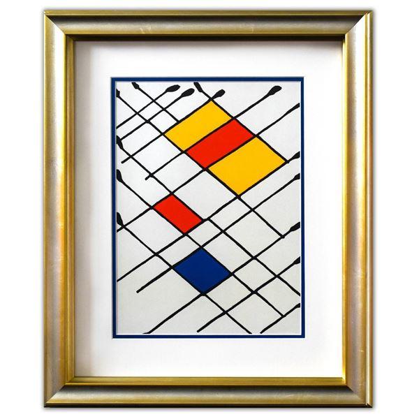 "Alexander Calder- Lithograph ""DLM156 - Damier"""