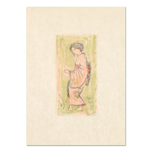 """Edna Hibel (1917-2014), """"Ume"""" Limited Edition Lithograph on Rice Paper, Numbered and Hand Signed wit"""