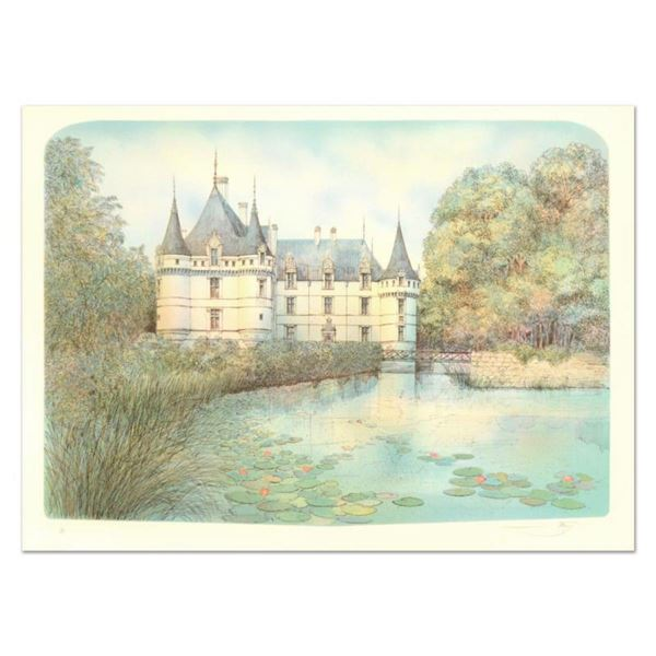 """Rolf Rafflewski, """"Chateau II"""" Limited Edition Lithograph, Numbered and Hand Signed."""