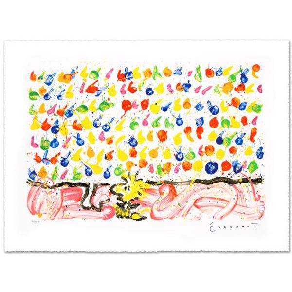 """""""Tweet Tweet"""" Limited Edition Hand Pulled Original Lithograph by Renowned Charles Schulz Protege, To"""