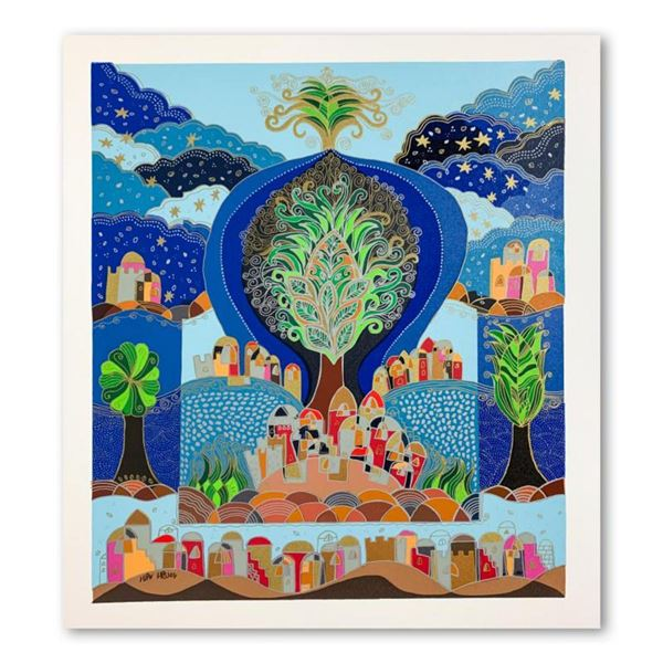 """Ilan Hasson, """"Tree of Life"""" Hand Signed Limited Edition Serigraph on Paper with Letter of Authentici"""