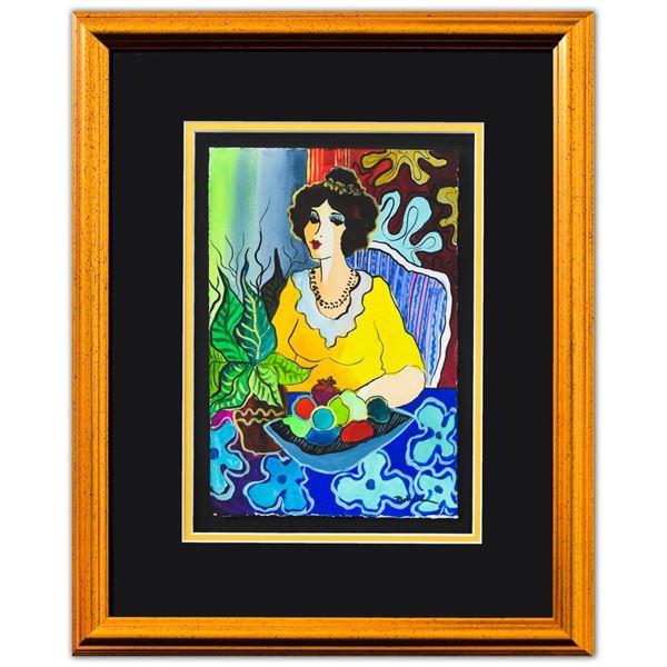 "Patricia Govezensky- Original Watercolor ""Viviana"""