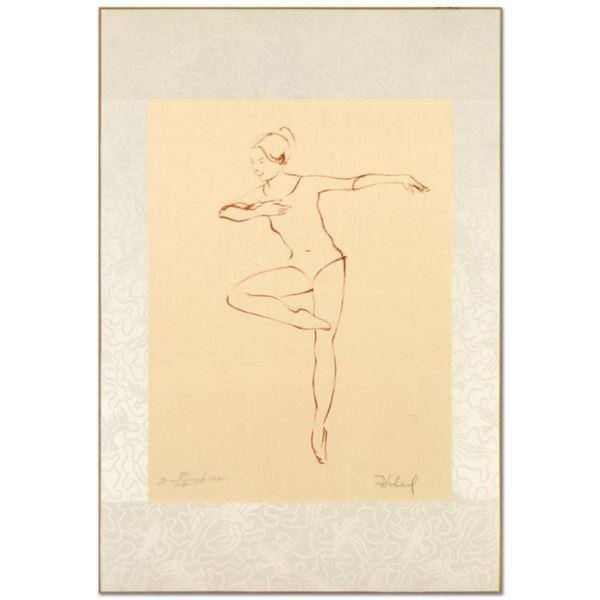 """Edna Hibel (1917-2014), """"Pirouette"""" Limited Edition Lithograph, Numbered and Hand Signed with Certif"""