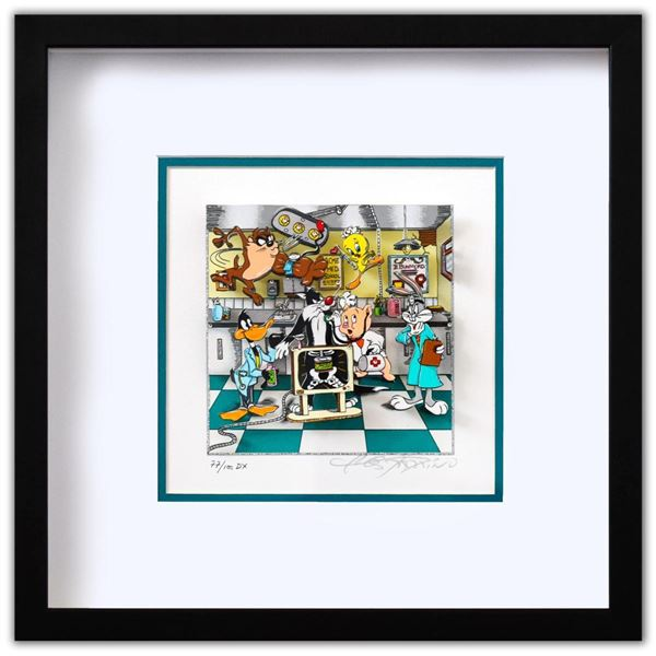 "Charles Fazzino- 3D Construction Silkscreen Serigraph ""A Looney Doctor Visit"""