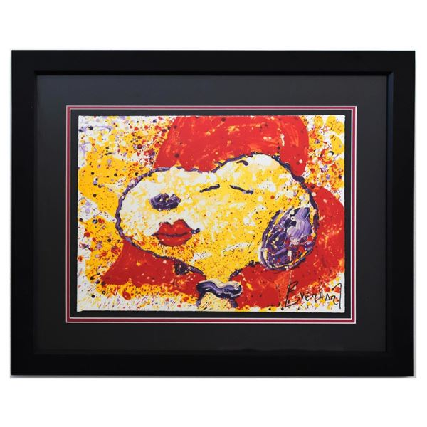 """Tom Everhart- Hand Pulled Original Lithograph """"A Kiss is Just a Kiss"""""""