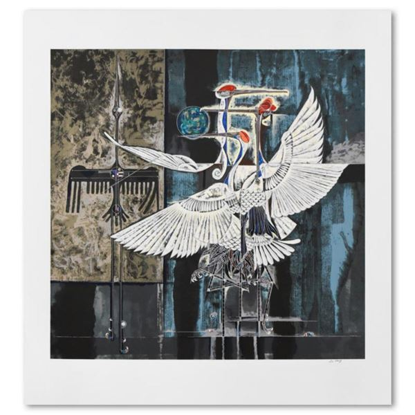 """Lu Hong, """"Nocturne"""" Limited Edition Serigraph, Numbered and Hand Signed with Letter of Authenticity"""
