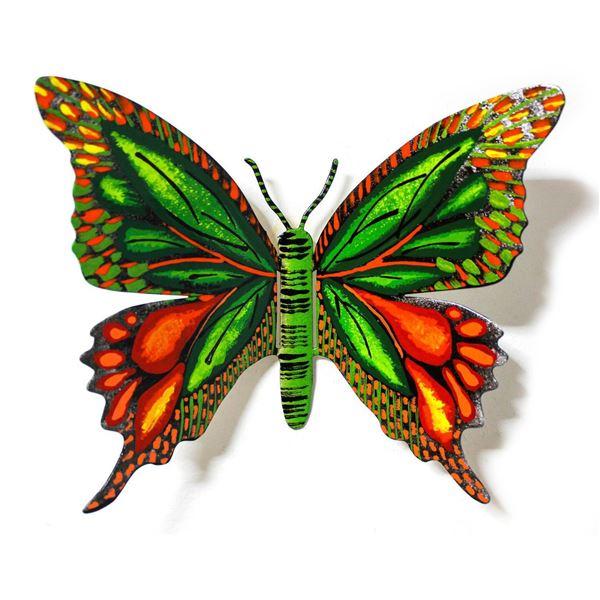 "Patricia Govezensky- Original Painting on Cutout Steel ""Butterfly CXXXIV"""
